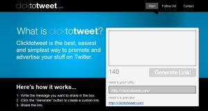 Image of the Click to Tweet tool